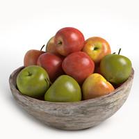 apples plate 3d model