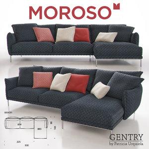 moroso gentry ge0c51 sofa 3d max