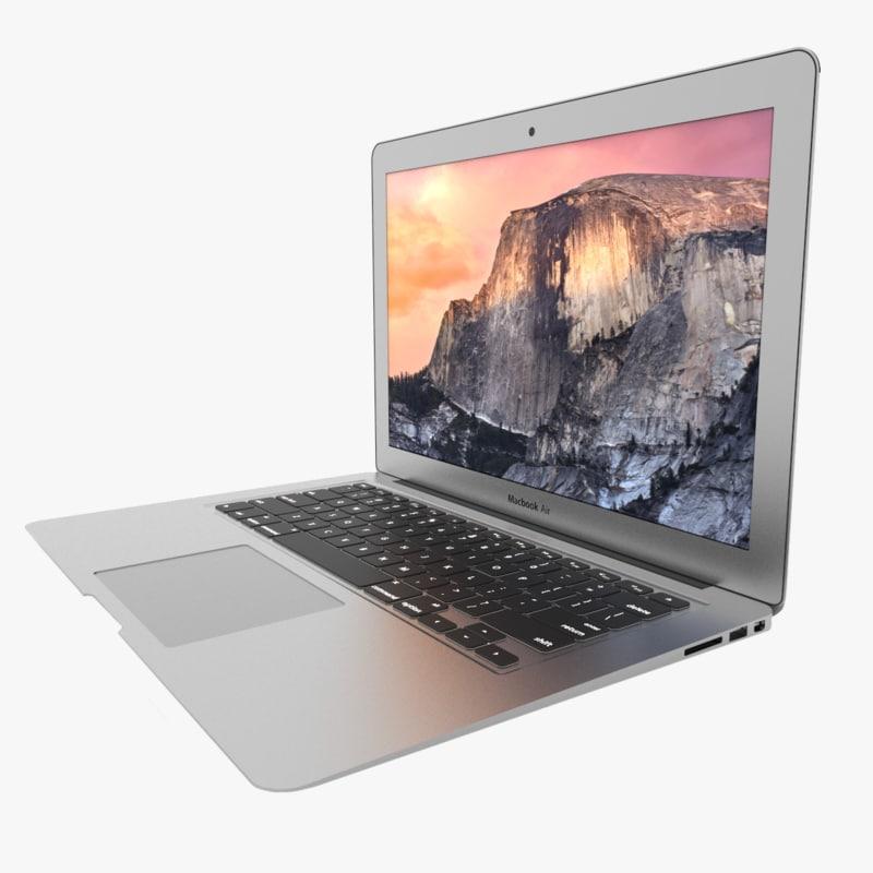 macbook air 13 inch 3d model