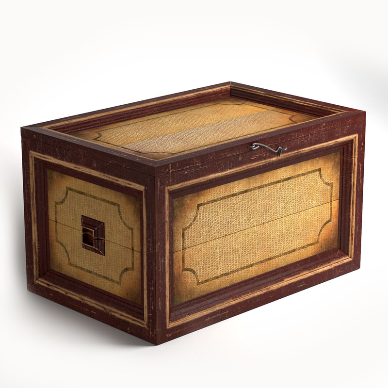 table box old 3d model