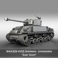 m4a3e8 hvss sherman - 3d model