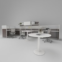 3d model office working