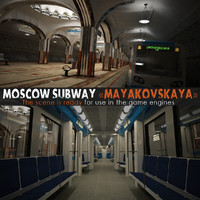 Moscow Subway With Train