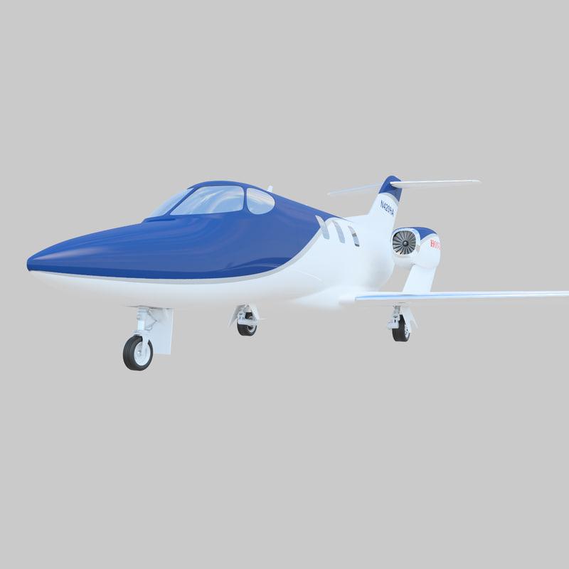 3d model business jet hondajet ha-420