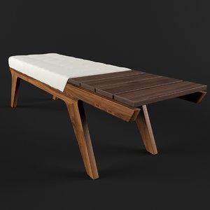 3d cousin eddy bench