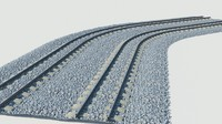 3d model rail tunel