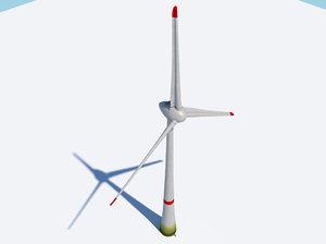 3d model wind turbine