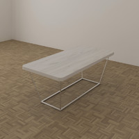 3d model club table 1120 x
