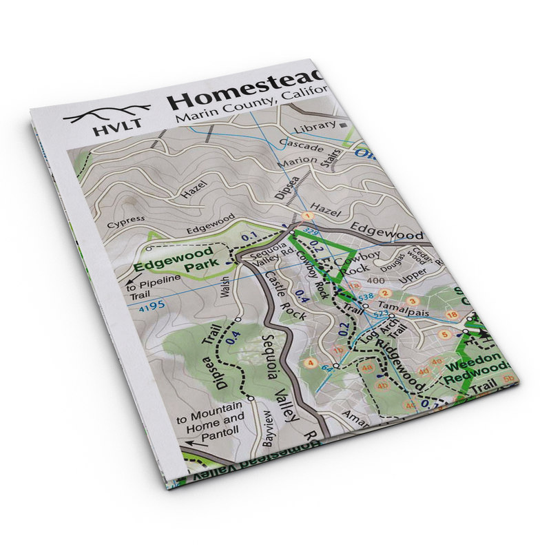 3d trail folded mapped model