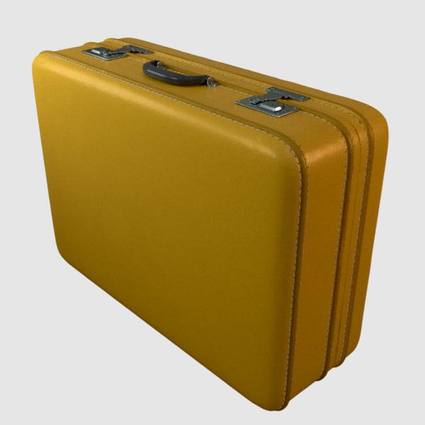 rigged suitcase 3d obj