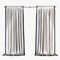Curtain with cornice