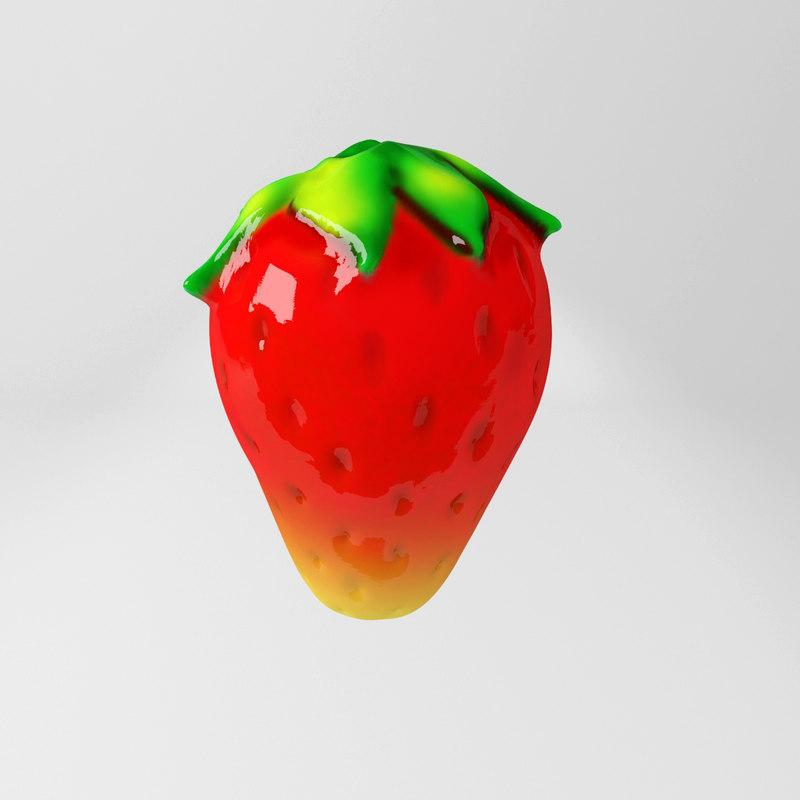3d max strawberry