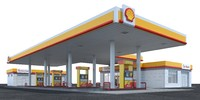 shell gas station obj