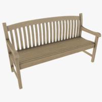 bench asset polys max
