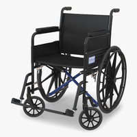3d wheelchair rigged