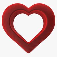 3d model heart valvet red v2