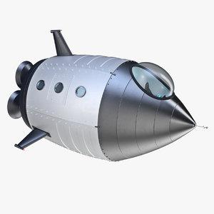 comic rocket 3d max