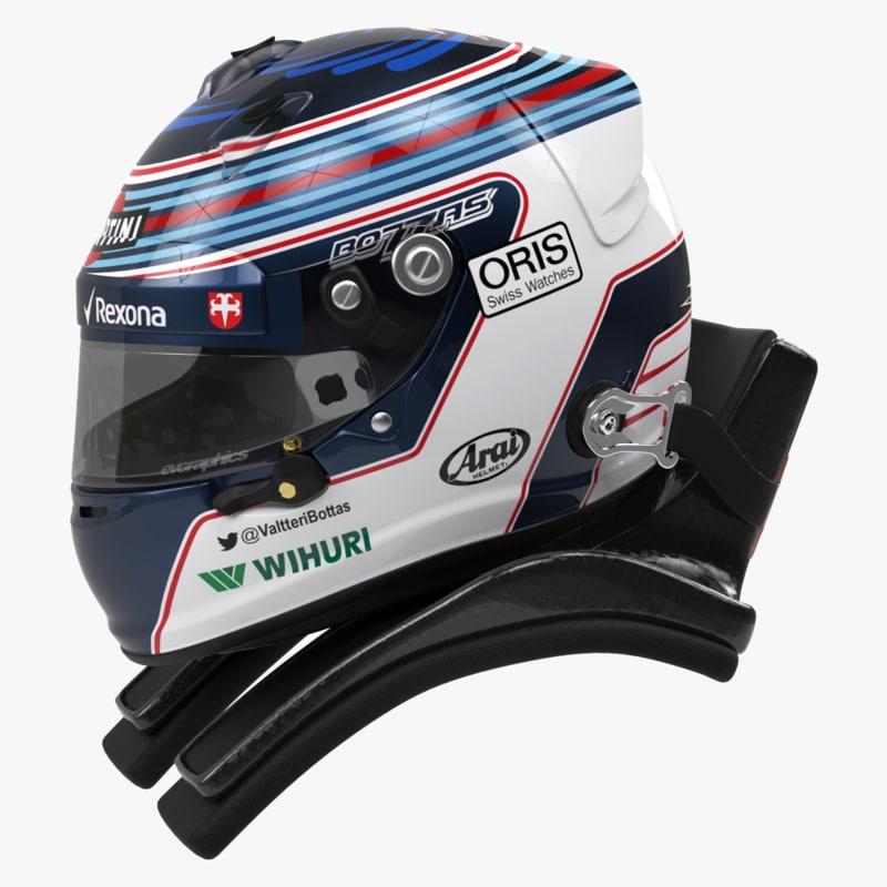 racing helmet valtteri bottas 3ds