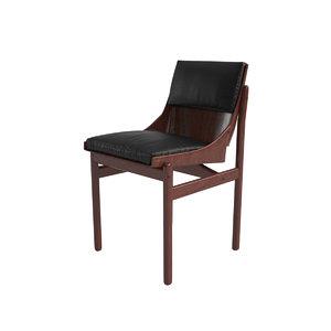 3d model jorge zalszupin dining chair