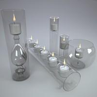 3d glass light