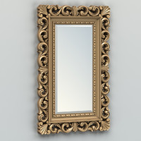 carved rectangle mirror frame 3d model