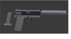 3d guns war model