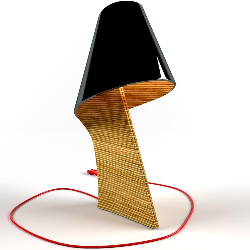 3d model table lamp air mg