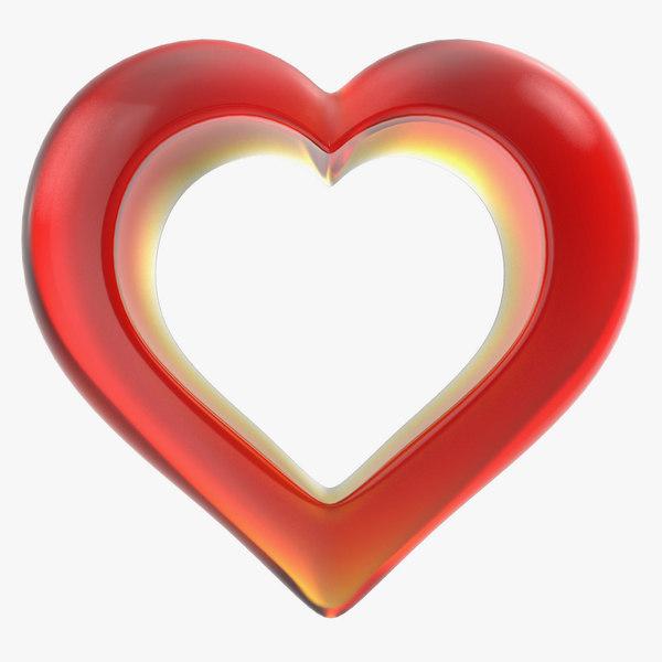 heart glass red v2 3ds