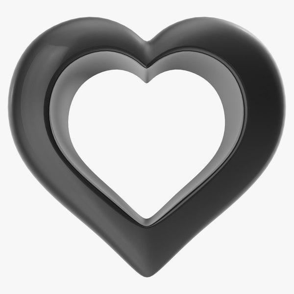 heart black v2 3d max