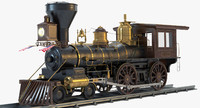 3d model jupiter steam locomotive engines