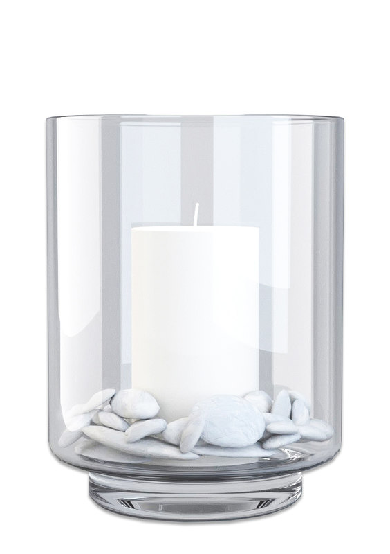 3ds glass candle holder