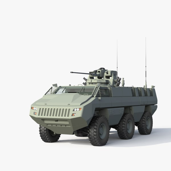 3d mbombe fighting vehicle model