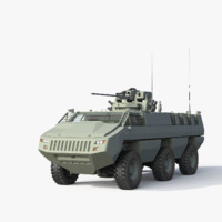 3d mbombe fighting vehicle model