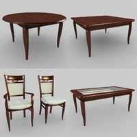 3d table chairs model