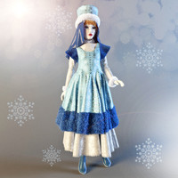 3d model dolls snow maiden
