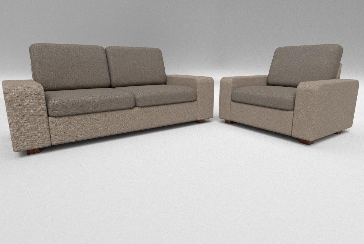 3d pbr sofa set model