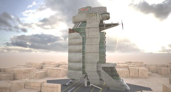 fog skyscraper 3d model