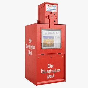 3d newspaper box model