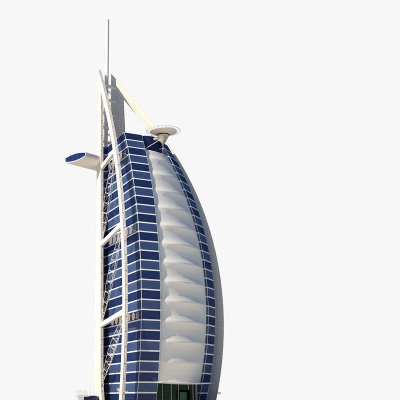 burj al arab skyscraper 3d model