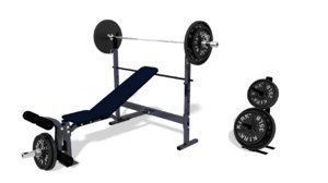 3d model incline weight bench