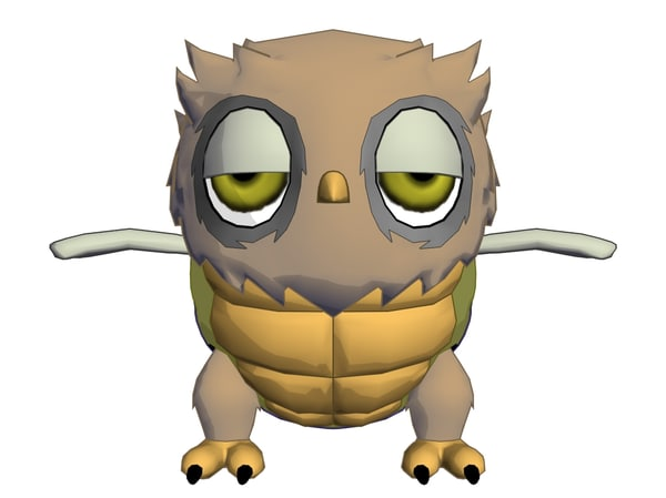 3d model rigged cartoon
