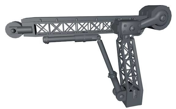 3d model pulley crane