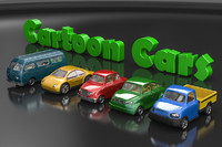 Set of cartoon cars