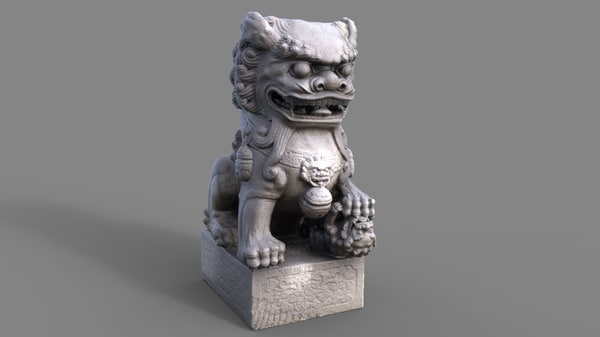 scan chinese dragon statue 3d obj