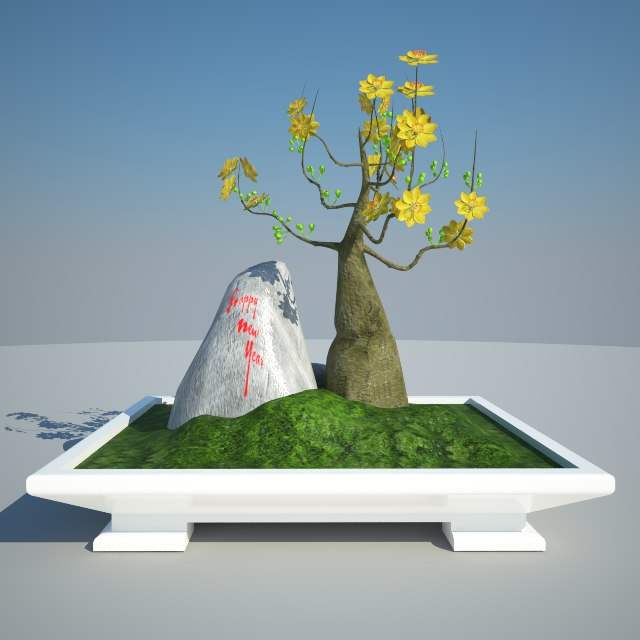 plum blossom yellow bonsai max free