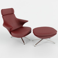 3ds lounge chair minotti