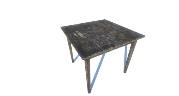 table games 3d model