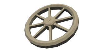 wooden wagon wheel x