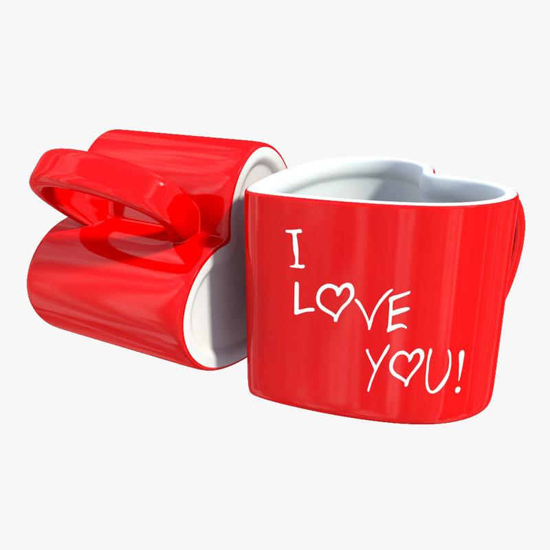 cup heart 3d max