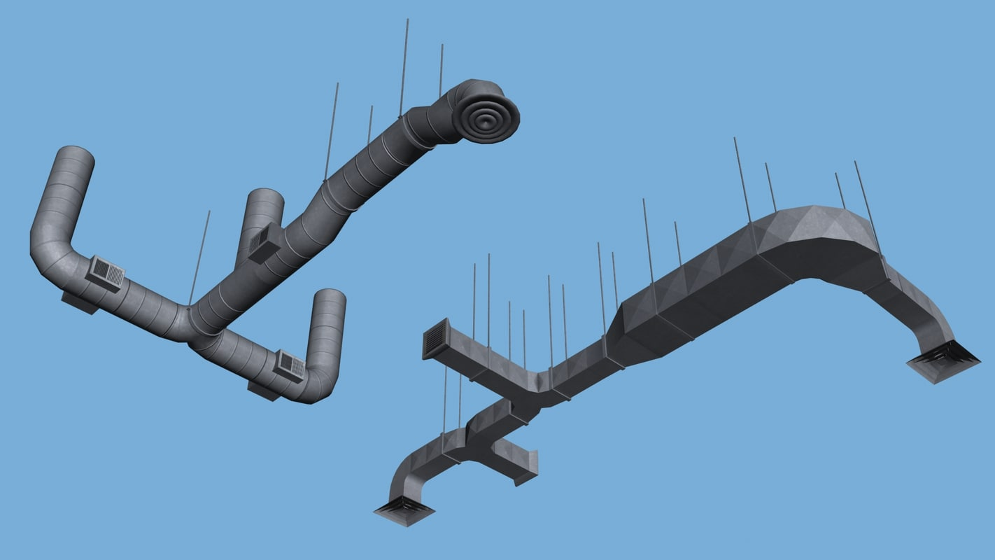 ventilation systems diffuse 3d model